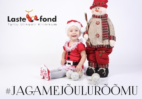 Jaga Facebookis jõulurõõmu ja aita Tartu ülikooli kliinikumi lastefondil raskelt haigeid lapsi aidata!
