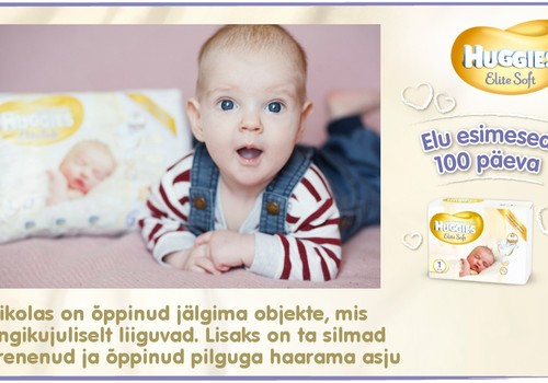 Huggies® Elite Soft esitleb: Beebi 100 esimest elupäeva (96. päev)