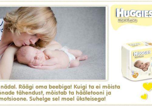 Uus ja eriline kollaaži seeria: Esimene nädal koos Huggies® Newborn mähkmetega