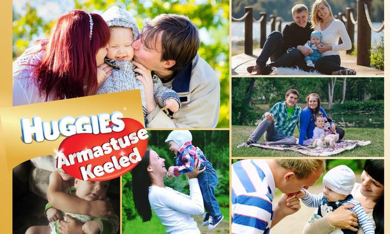 """Huggies® """"Armastuse keeled"""" fotokonkursi """"Meie pere armastuskeeled"""" võitjad!"""