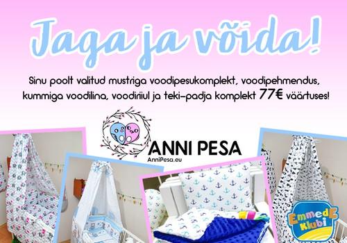 Võida 77€ väärtuses kaupa Anni Pesalt!