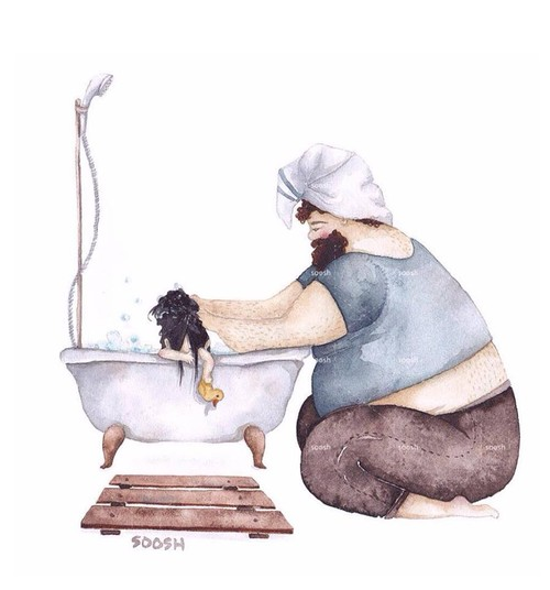 Südantsoojendavad illustratsioonid: suured issid ja pisikesed tütred