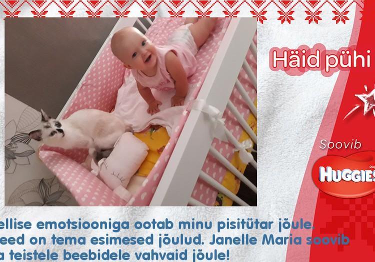 11-kuune Janelle Maria koos oma sõbra Nöpsikuga