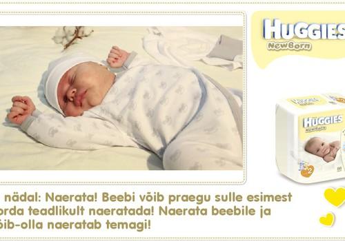 Kuues nädal koos Huggies® Newborn mähkmetega
