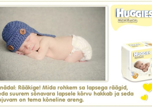 Üheksas nädal koos Huggies® Newborn mähkmetega