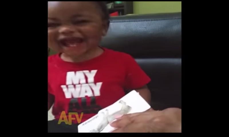 Video: Imearmas poisiklutt ei saa naeru pidama, kuuldes sõna eesel