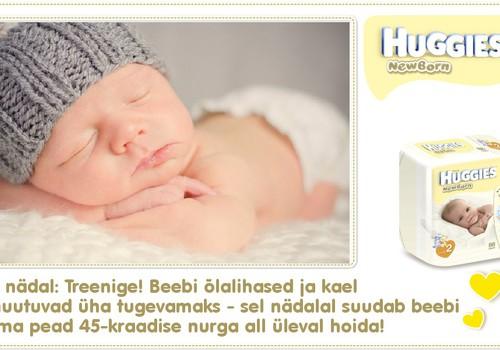 Kaheksas nädal koos Huggies® Newborn mähkmetega