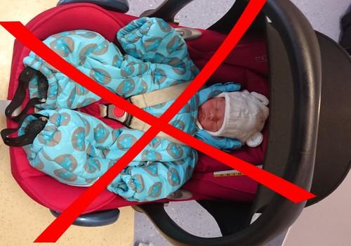 Ära sõiduta last hällis või toolis talveriietega!