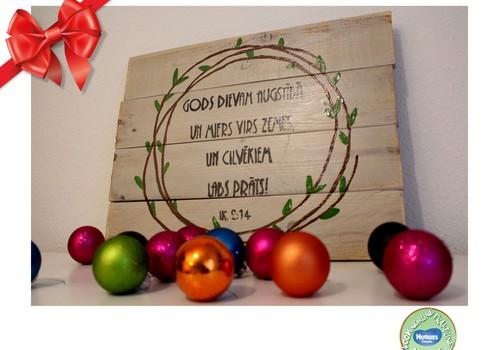 Huggies® pühadekingituste kataloog: Ebatavaline jõulukingitus - vana plank sisustuselemendina