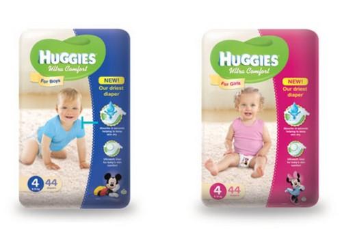 UUS! Täiustatud Huggies® Ultra Comfort mähkmed poistele ja tüdrukutele!