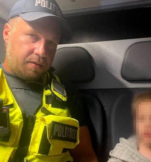 Tartus südaööl koduaiast kadunud väikelaps ootas oma vanemaid politseiautos multikaid vaadates