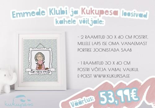 EMADEPÄEVALOOS! 50€ väärtuses auhindu Kukupesalt!