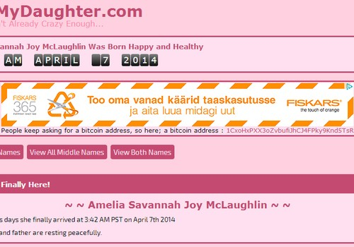 Internetikasutajail oma lapsele nime valida lasknud paar loobus enim hääli saanud variandist