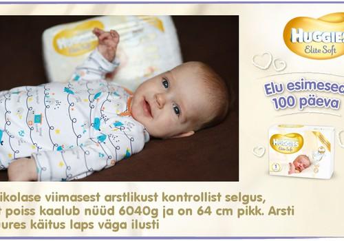 Huggies® Elite Soft esitleb: Beebi 100 esimest elupäeva (98. päev)