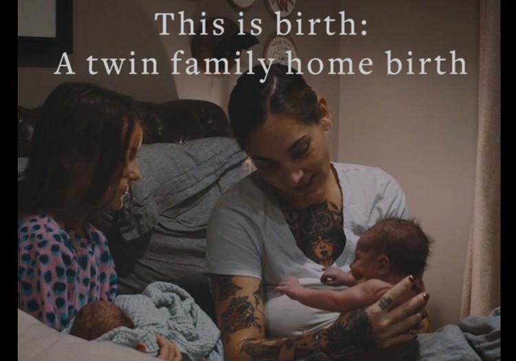 Imeilus video kaksikute kodusünnitusest