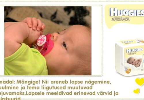 Seitsmes nädal koos Huggies® Newborn mähkmetega