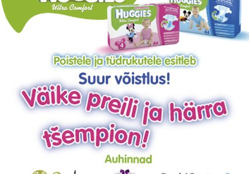 Suurepärane  Huggies ® Ultra Comfort blogivõistlus poistele ja tüdrukutele!