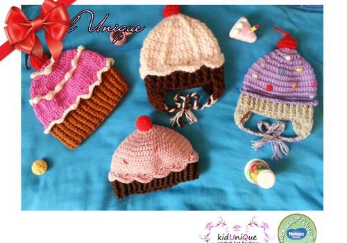 Huggies® pühadekingituste kataloog: Kidunique heegeldatud mütsid