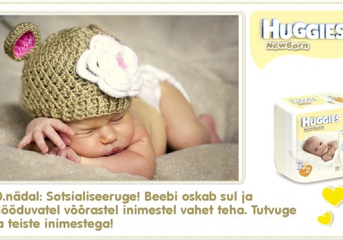 Kümnes nädal koos Huggies® Newborn mähkmetega