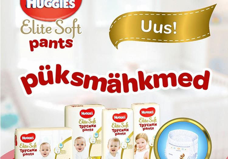 Huggies® Elite Soft Pants - kõige mugavamad püksmähkmed Sinu beebile