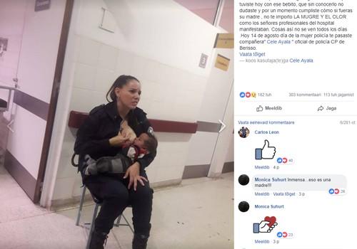 Politseinik rahustas võõrast last imetamisega