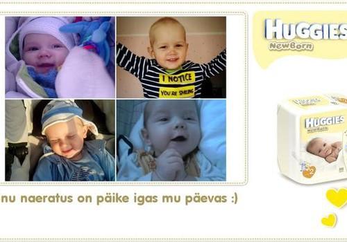 Beebi naeratuse kollaaživõistluse võitja, kes võidab enda Huggies ® Newborn mähkmed ning Mothercare body!