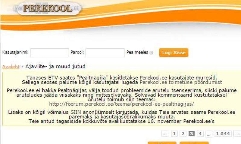 Kas Perekool on Eesti õelaim netifoorum?