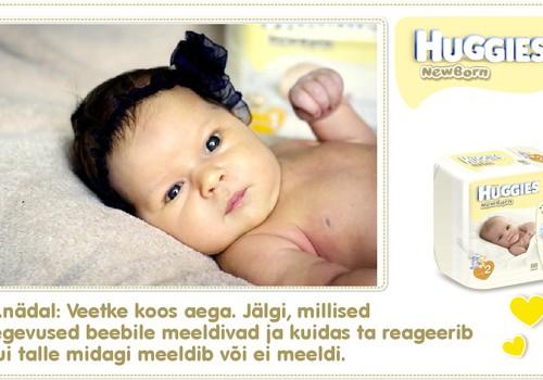Üheteistkümnes nädal koos Huggies® Newborn mähkmetega
