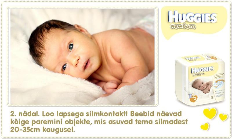 Teine nädal koos Huggies® Newborn mähkmetega